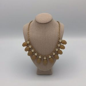 Francesca's Cream and Tan Statement Necklace